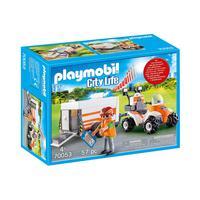 Playmobil, Quadriciclo De Resgate Com Reboque