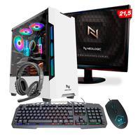 Kit - Pc Gamer Smat Pc Smt82115 Intel I5 8gb (gtx 1650 4gb) Ssd 240gb + Monitor 21,5