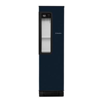 Cervejeira Vertical Metalfrio Beer Maxx 300 Com Porta Glass Viewer 287l Azul Grafite Vn28tp 220v