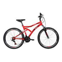 Bicicleta Lazer Caloi Alpes Aro 26, 21 Velocidades, Vermelho