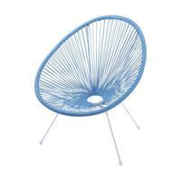 Cadeira Acapulco Cordas Pvc 69x50x85cm Azul Turquesa