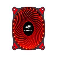 Cooler Fan C3tech, F7-l130rd, Storm, 12cm, 30 LEDs, Vermelho