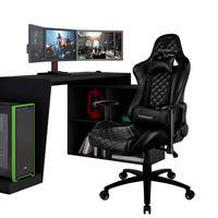 Mesa Para Pc Gamer Dark Bmg-03 Com Cadeira Gamer Tgc12 H01 Thunderx3 Preto - Lyam Decor