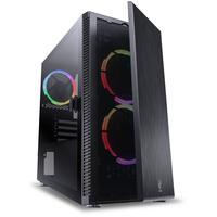 Gabinete PCyes Mid-tower Solid, 3 Fans, RGB, Lateral Em Vidro Temperado, Preto - SOPTRGB3FV