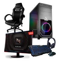 Pc Gamer Completo Smart Nli82547 Amd A6-7480 16gb (radeon R5 Integrado) Ssd 120gb 400w 80 Plus + Cadeira