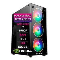 Pc Gamer Fácil, Intel Core I7 9700f, 8gb, Geforce Gtx 750ti 4gb, Ddr4, Hd 500gb, Fonte 500w