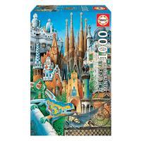 Puzzle 1000 Peças Miniatura Obras De Gaudi - Educa - Imp