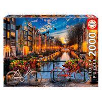 Puzzle 2000 Peças Amsterdam Com Amor - Educa - Importado