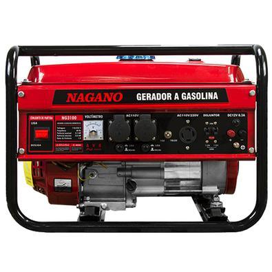 Gerador De Energia A Gasolina, 3 Kva, Monofásico Partida Manual - Ng3100 - Nagano