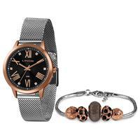 Kit Relógio Feminino Lince Analógico Prata - Lrt4651l-kx60p3s - Unico