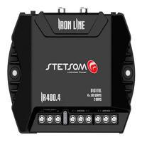Modulo Amplificador Stetsom 400 Rms Ir-400.4 Iron Line Stereo Digital 4 Canais 2 Ohms Classe D Rca Crossover Full Range Stetsom Ir 400