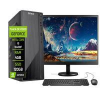 """Computador Completo Fácil Intel Core I5 10400f (décima Geração) 4gb Ddr4 Geforce Nvidia 1gb Ssd 120gb Monitor 19"""" Hdmi"""