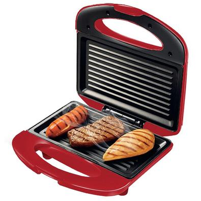 Sanduicheira Mondial S-19 Premium, Grill, Antiaderente, 800w, Vermelho - 110v