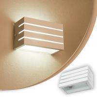 Arandela Frisada Luminaria Branca Para Muro Parede Externa G9
