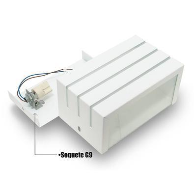 Arandela Frisada Branca Parede Externa Kit 06 Unidades