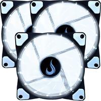 Kit Com 3 Cooler - Fan Rise Mode, 120mm Led Branco - Rm-wn-01-bw