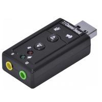 Adaptador Placa de Som Usb 7.1 Virtual Áudio Fone Ouvido