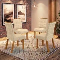 Conjunto 4 Cadeiras Estofadas Juanita Casa 812