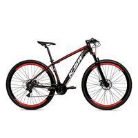 Bicicleta Alum 29 Ksw Cambios Gta 27 Vel Freio Disco Hidráulica E Trava - 17 polegadas - Preto/vermelho.