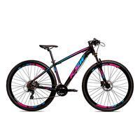 Bicicleta Aro 29 Ksw Cambios Gta 27 Vel Freio Disco Hidráulica E Trava - 17´´ - Preto/azul E Rosa