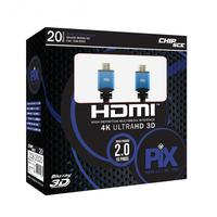 CABO HDMI 20MTS VERSAO 20 4K ULTRA HD 19 PINOS PIX 018-2020