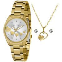 Relógio Lince Lrgh156l Kz70 Analógico + Conjunto De Semi-joia