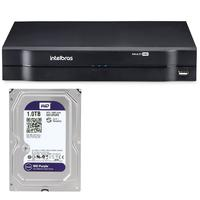 Kit Stand Alone Intelbras 8 Canais Mhdx 1108 + Hd 1tb Wd Purple