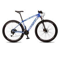 "Bicicleta Aro 29 Dropp Rs1 Pro 27v Alivio, Fr. Hidra E Trava - Azul/branco - 17"" - 17"""