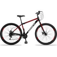 Bicicleta Aro 29 Dropp Sport 21v Garfo Rigido, Freio A Disco - Preto/vermelho E Branco - 17'' - 17''