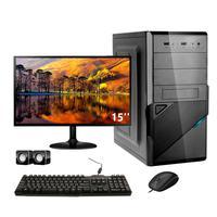 Computador Completo Corporate I3 4gb 120gb Ssd Dvdrw Windows 10 Monitor 15