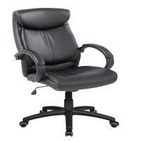 Cadeira Presidente Pelegrin Pel-4109 Em Couro Pu Preta