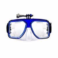 Máscara Mergulho Azul Com Suporte Para Gopro Sjcam