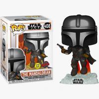 Boneco Funko Pop Star Wars The Mandalorian Glow 408