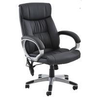 Cadeira De Escritório Home Office Ceuta Giratória Com Massagem Pu Sintético Preta - Gran Belo