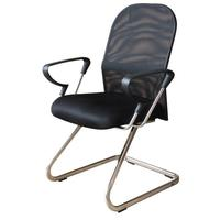 Cadeira Interlocutor Em Tela Mesh Pel-8036 Preta