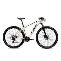 Bicicleta Alumínio Ksw Shimano Altus 24 Vel Freio Hidráulico E Suspensão Com Trava Krw18 - 17´´ - Branco/preto