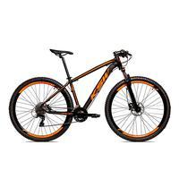 Bicicleta Alumínio Ksw Shimano Altus 24 Vel Freio Hidráulico E Suspensão Com Trava Krw18 - 21´´ - Preto/laranja Fosco