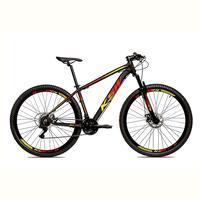 Bicicleta Alum 29 Ksw Cambios Gta 24 Vel A Disco Ltx - Preto/amarelo E Vermelho - 19´´