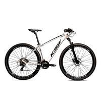 Bicicleta Alumínio Aro 29 Ksw 24 Velocidades Freio  Hidráulico Krw17 - 17´´ - Branco/preto