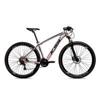 Bicicleta Alum 29 Ksw Cambios Gta 24 Vel A Disco Ltx Hidráulica - 19'' - Prata/preto