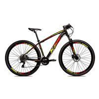 Bicicleta Alumínio Ksw Shimano Altus 24 Vel Freio Hidráulico E Suspensão Com Trava Krw18 - Preto/amarelo E Vermelho - 19´´