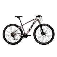 Bicicleta Alumínio Ksw Shimano Altus 24 Vel Freio Hidráulico E Suspensão Com Trava Krw18 - 17'' - Prata/preto