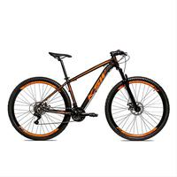 Bicicleta Alumínio Aro 29 Ksw Shimano Tz 24 Vel Ltx Krw20 - 21´´ - Preto/laranja Fosco