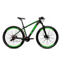 Bicicleta Alumínio Ksw Shimano Altus 24 Vel Freio Hidráulico E Cassete Krw19 - 15.5 - Preto/verde Fosco