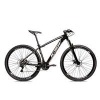 Bicicleta Alumínio Aro 29 Ksw Shimano Tz 24 Vel Ltx Krw20 - 17´´ - Preto/prata