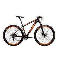 Bicicleta Alumínio Aro 29 Ksw 24 Velocidades Freio  Hidráulico Krw17 - 17´´ - Preto/laranja Fosco