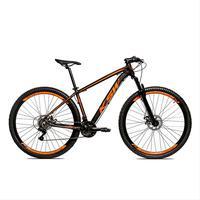 Bicicleta Alumínio Aro 29 Ksw 24 Velocidades Freio A Disco Krw16 - 15.5'' - Preto/laranja Fosco