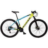 Bicicleta Aro 29 Dropp Z7x 21v Shimano, Suspen E Freio Disco - Azul/amarelo E Preto - 17''