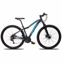 Bicicleta Aro 29 Dropp Flower 21v Suspensão E Freio A Disco - Preto/azul - 17