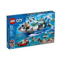 Lego City - Barco Da Patrulha Da Polícia - 276 Peças – 60277